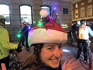 Santa hat helmet cover