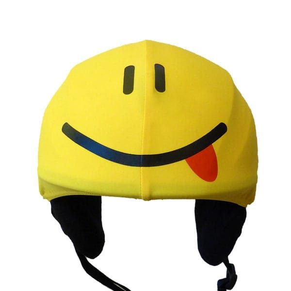 smiley helmet cover front