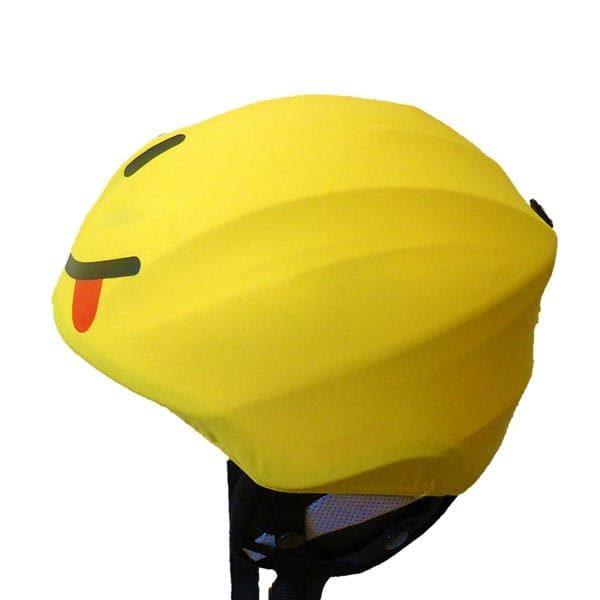 smiley helmet cover left