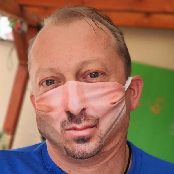fase mask realistic white male