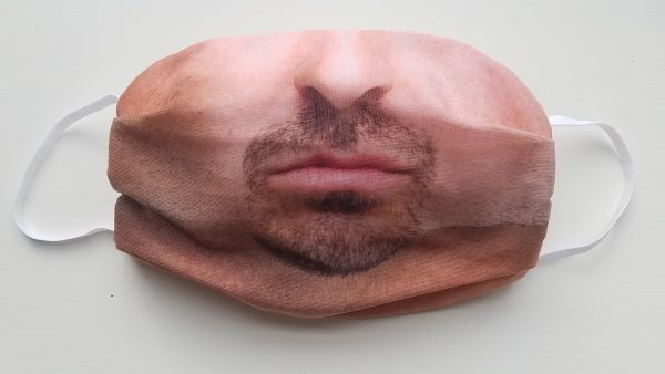 mouth cover realistic face mask with filter pocket
